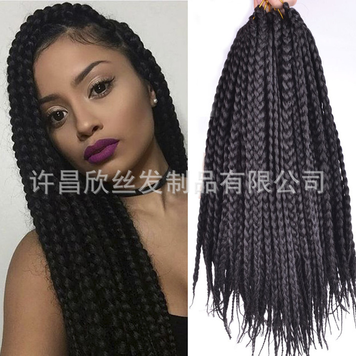 New Women s Wigs on the Market 3X box braid hair Wig Accessories Long  braided wigs black ef9d13a91c