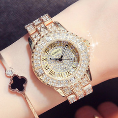 Superior quality  Fashion Accessories Watch Quartz watches women  Set in drill waterproof gold size one