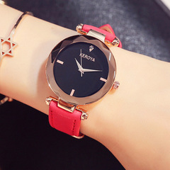 Women's Fashion Accessories Watches women watches ladies Quartz watch waterproof Retro fashion watch red size one