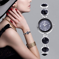 Fashion Accessories Watches women Alloy bracelet watch small dial ceramic and quartz watches ladies black size one