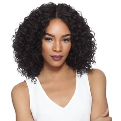 Women Wigs Short Women Curly Lace Front Human Black Hair Wigs Middle Long Hair Bob Wig Small volume black size one