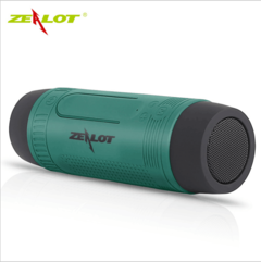 ZEALOT multi-function wireless Bluetooth speaker loudspeaker waterproof flashlight card lighting green 3w ZT005