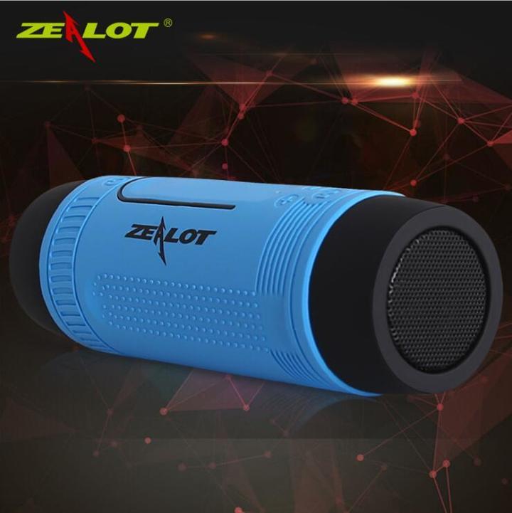 ZEALOT multi-function wireless Bluetooth speaker loudspeaker waterproof flashlight card lighting blue 3w ZT005