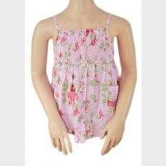 Girls Floral Top Pink 5-6 yrs