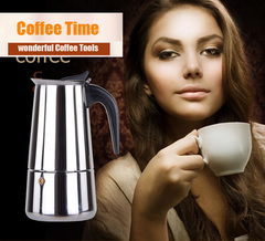 Moka coffee maker in stainless steel 4 sizes Expresso Moka coffee pot Capuccino Mocha coffee maker same color 100ml