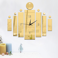 Favored One - 1 piece Luxury Acrylic craft digital wall clock mirror 3D study bedroom wall clock gold same size