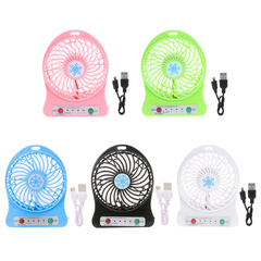 Favored One - 1 piece Portable LED light Mini fan air cooler Mini USB fan third wind USB fan full