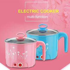Multi-function Mini electric frying pan noodles rice insulation electric heating food container random color 1.5 L