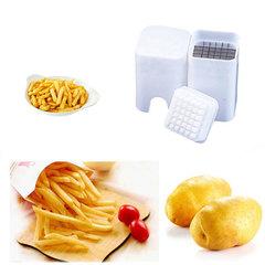 Favored One - 1 piece Potato stripe multi-function French fries machine Household white same size