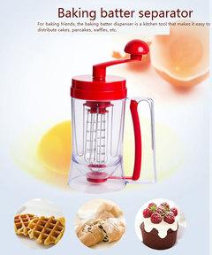 Hand-held Manual Pancake Cupcake Batter Mixer Dispenser Blender Machine Measuring Cup Baking Tool like picture same size