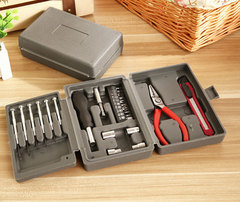 Household Tools Set Mixed Ironware Hardware Kit Box For Car computer phone Multi-function w/Toolbox same as photo