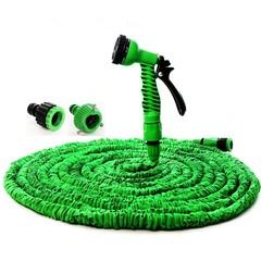 7 In 1 Spray Gun 50FT Expandable Latex Tube Magic Flexible Hose for Garden Car Plastic Hoses green 50Ft