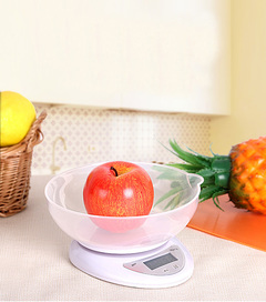 1pcs Kitchen high-precision electronic scales baking food weighing mini gram scale with tray full 5kg/1g