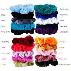 20pcs/pack Velvet Women Girls Elastic Hair Rubber Bands Accessories Gum For Women Tie Hair Ring same same
