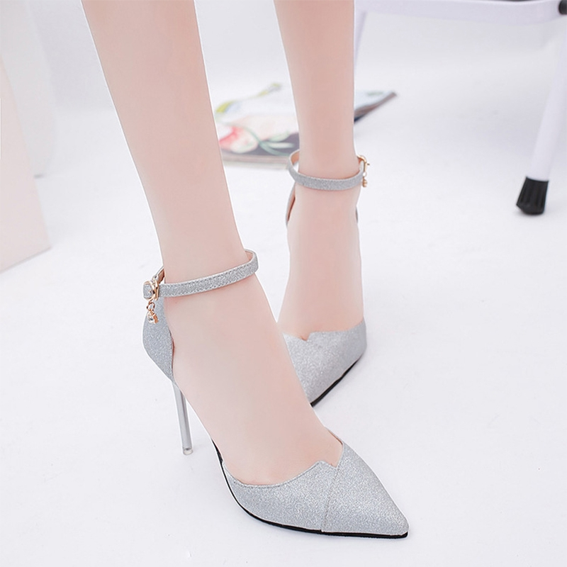d4fba3e86b8b Sole material  Rubber Toe shape  pointed tip. Heel height  high heel  (6-8CM) Heel shape  rough heel. Colour  Black