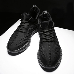 Coconut shoes, flying weaving shoes, light breathable, outdoor shoes, men's shoes. black 43