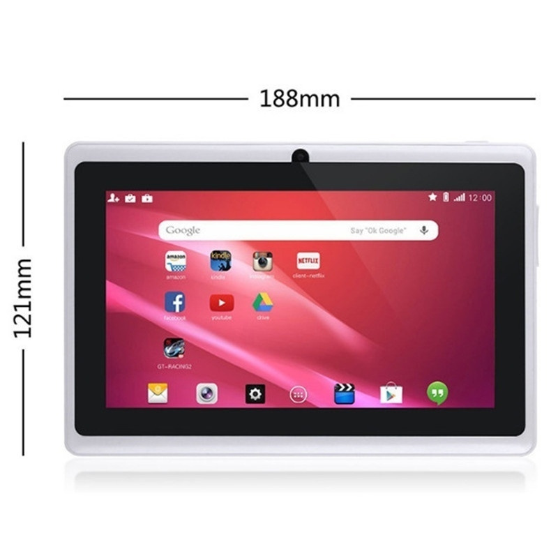 Quad Core 7 Inch Tablet Pc A33 Q88 III 6 Colors Android 4.4 RAM 512M ROM 4GB for Students Teenagers RED 3