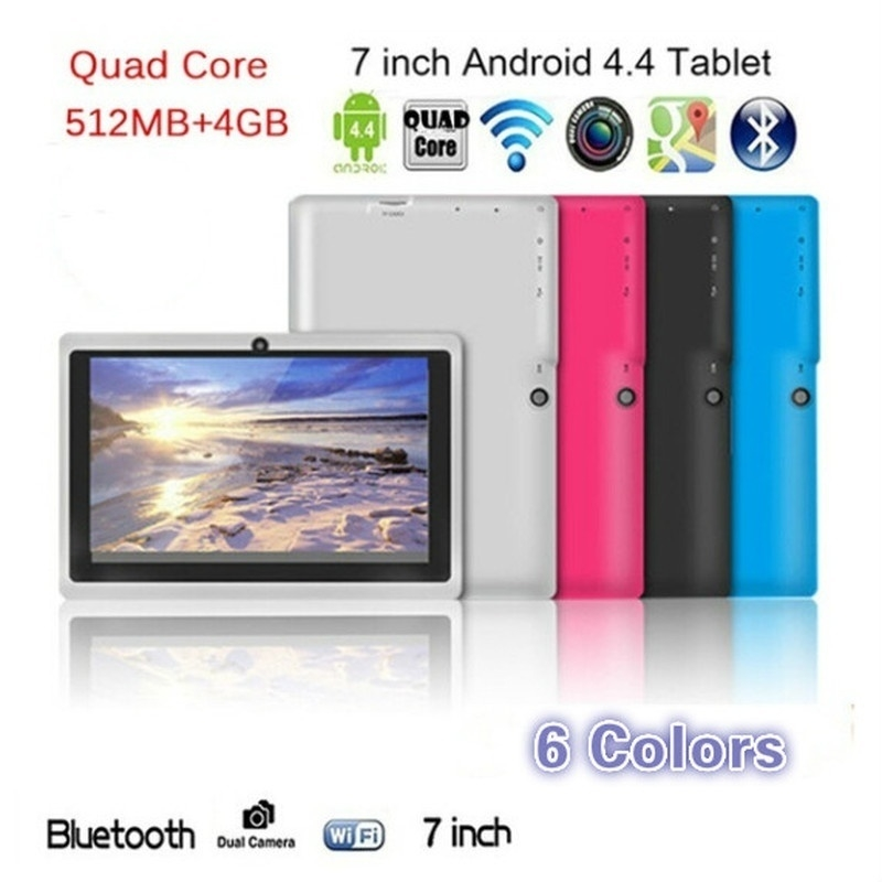 Quad Core 7 Inch Tablet Pc A33 Q88 III 6 Colors Android 4.4 RAM 512M ROM 4GB for Students Teenagers RED 1