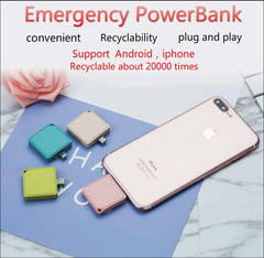 Convenience Small and clever Field emergency Power Bank 1000mAh  mini portable power bank BLUE 1000mAh