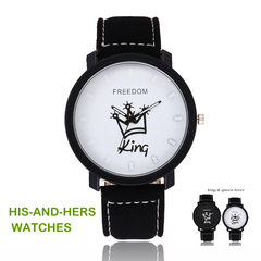 World Bestselling Women Men Lovers Couple Crowns  King  or Queen Watches Valentines Gift King Adjustable