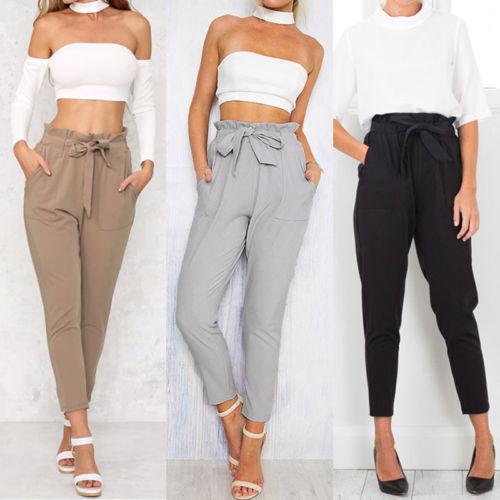 Women High Waist Elastic Harem Pants Casual Lady Ankle -length Capris Trouser  Women Pencil khaki xl  Product No  7727923. Item specifics  Brand  7b872d4deb7f