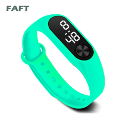 FAFT  M2 sport watches touch white light men women multicolor bangle watch mint green free size