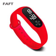 FAFT  M2 sport watches touch white light men women multicolor bangle watch red free size
