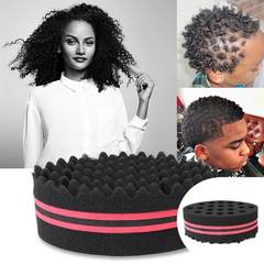 FAFT Roud Shape Double Sides Magic Barber Hair Brush Wave Sponge for Locs Twist Curls Coil Tools random Buy 1 get 3