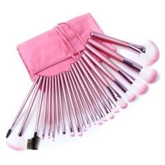 pink persian cat hair brush set make up bag brush brush make up face  M004 as the picture
