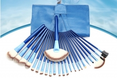 24 pcs Professional makeup brushes tools Make Up set Soft Synthetic Hair tool Leather Case  M018 as the picture