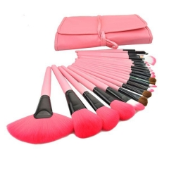 24pcs Professional Makeup Brushes Set Cosmetic Make up Brush Kit Pink Makeup Tool +Pink Case M019 as the picture
