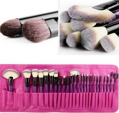 24 PCS Professional Purple Makeup Cosmetic Brush Set LC0247 New 2015  M023 purple