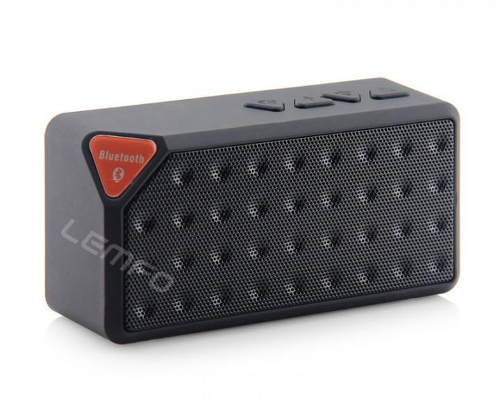 Mini X3 Bluetooth Speaker Portable Wireless Handsfree TF FM Radio Built in Mic MP3 Subwoofer black 1