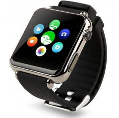 Y6 2.5D Radian 1.54 Inch Smart HD Touch Screen Watch Push Messages for Android With SIM Card Calling black one size
