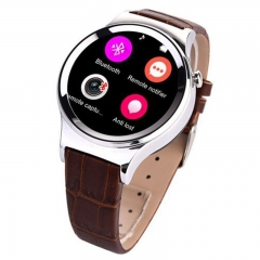 Luxury Bluetooth Smart Watch T3+ Heart Rate UV Detection WristWatch SIM TF Card For Android iOS gold one size