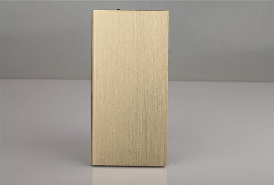 Ultra Thin Metal Power Bank 12000mAh Mobile External Battery Portable Power Bank gold 12000