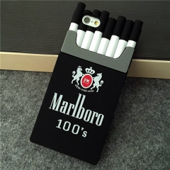 2016 Vogue fashion cigerette case cell phne case cigarette case phone case silicone gel full package black for iphone 4