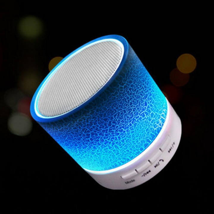 LED Mini Wireless Bluetooth Speaker A9 TF USB FM Portable Musical Subwoofer speakers For smart phone blue one size