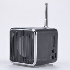 TD-V26 Portable Micro SD TF USB Mini Speaker Music Player Portable FM Radio Stereo mp3 phone Laptop gold one size
