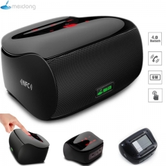 Meidong Mini Bluetooth Speaker Subwoofer Stereo Wireless Portable Touch Screen for Phone Computer black one size