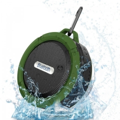 C6 Waterproof Outdoor Bluetooth Speaker TF Wireless Music Loudspeaker Portable Speakers Shower blue one size