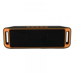 SC208 Wireless Speaker Bluetooth 4.0 Caixa De Som Stereo Subwoofer Speakers orange one size