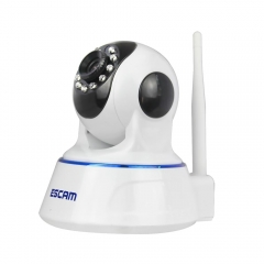 720P HD IP Camera IR-Cut Night Vision P2P Baby Monitor Audio Record Indoor Surveillance Camera white one size