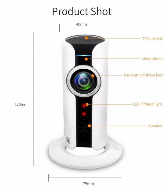 Camera Wireless WIFI Video Surveillance WIFI Home Security Surveillance Wireless Mini Camera white one size