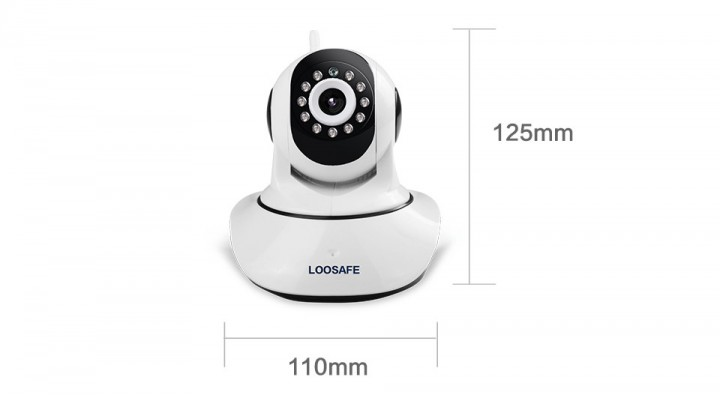 Wireless Pan Tilt IP Camera Wifi Night Vision Camera IP Network Camera CCTV Camera white one size