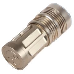 Super Bright LED Flashlight Aluminum 1800Lm 5 Mode 18650 LED Torch Lamp Flash Light gold one size