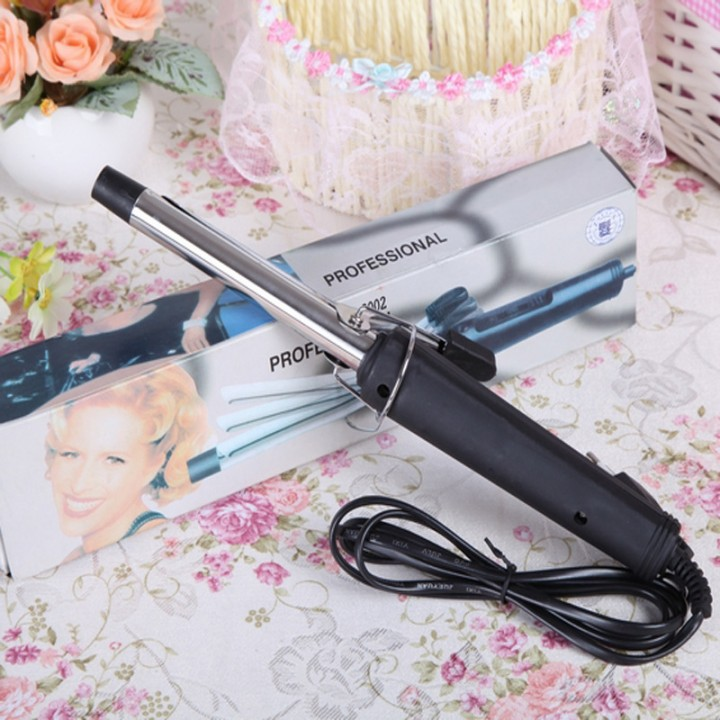 Metal curlers thermostat curlers stainless steel hair rods hot hair electric hair rods black one size