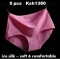 10 pcs / set Seamless Thick Ice Silk Panties Underwear Lengerie 10 pcs color random xl