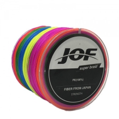 500m 4 Strands PE Fishing Line Braid X4 Multifilament Fish Wire Rope multi green 1.0 #