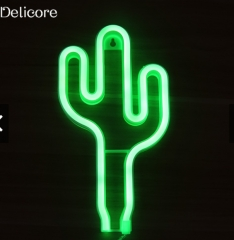 Battery Neon Lamp Holiday Light Flamingo Shaped LED Night green 11.22inch 3w